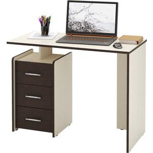Стол Мастер Слим-1 (дуб молочный/венге) МСТ-ССЛ-01-ДМ-ВМ-16 стол письменный мастер экстер 9 венге дуб молочный мст стэ 09 вм дм 16