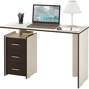 Стол Мастер Слим-2 (дуб молочный/венге) МСТ-ССЛ-02-ДМ-ВМ-16 стол письменный мастер экстер 9 венге дуб молочный мст стэ 09 вм дм 16