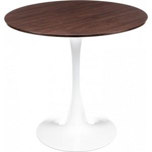 Стол деревянный Woodville Tulip Nut белый/орех