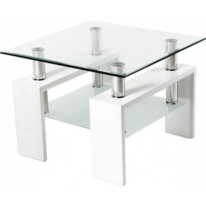 Стол стеклянный Woodville ST-052 белый