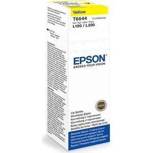 Чернила Epson L120/132/1300/222/312/366/382/486/566/605/655/ желтые 70ml (C13T66444A)