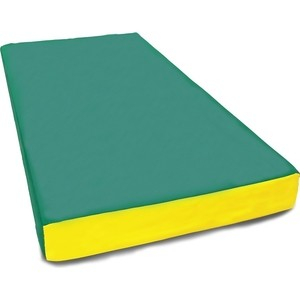 Мат КМС номер 1 (100х50х10см) зеленый/желтый