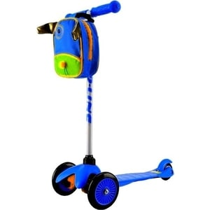 Самокат 3-х колесный Amigo Bliss с рюкзаком синий самокат 2 х колесный amigo target синий