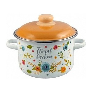 Кастрюля эмалированная 5.5 л Appetite Floral kitchen (6RD221M)