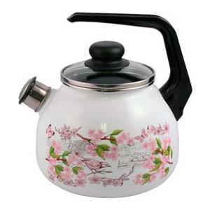 Чайник эмалированный со свистком 3.0 л Appetite Bird (4с209я)