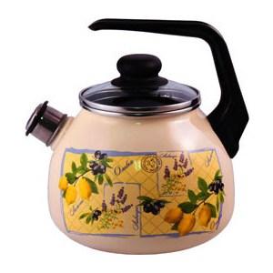 Чайник эмалированный со свистком 3.0 л Appetite Citrus (4с209я)