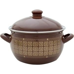 Кастрюля эмалированная 3.6 л Savasan Брауни (1445/3.6 л)