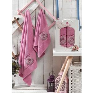 Набор из 2 полотенец Merzuka Rose светло-лиловый махра 50x80/70х130 (9330светло-лиловый)