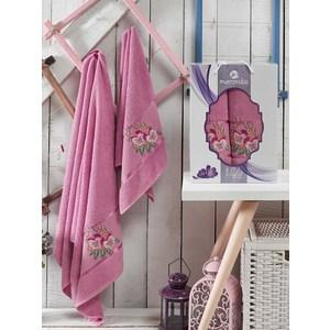Набор из 2 полотенец Merzuka Violet светло-лиловый махра 50x80/70х130 (9331светло-лиловый)