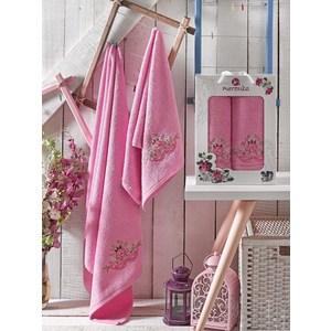 Набор из 2 полотенец Merzuka Demo розовый махра 50x90/70x140 (9332розовый) цена