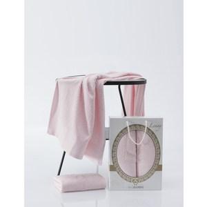 лучшая цена Набор из 2 полотенец Two dolphins Lenny светло-розовый махра 50x90/70x140 (9481светло-розовый)