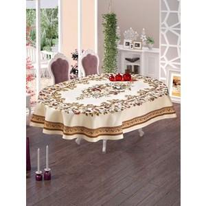 Скатерть Do and Co Kasimpati Lux гобеленовая жаккард пано овал (9239) скатерть karna жаккард пано caramel 160х220 овал 2797 char001