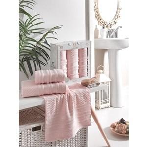 Набор из 3 полотенец Two dolphins Zenit светло-розовый махра 50x90-2/70x140-1 (9647светло-розовый)