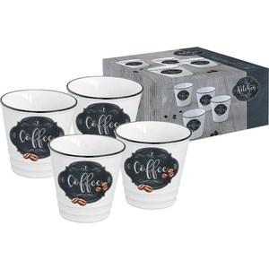 Набор из 4-х чашек для кофе Easy Life (R2S) Кухня в стиле Ретро (EL-R1602_KIBC)