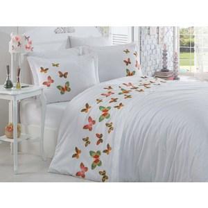 Комплект постельного белья Dantela Vita Евро, сатин с вышивкой, Veronica белый (9286белый)