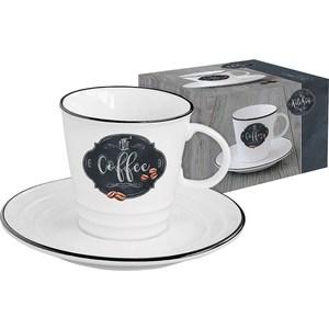 Чашка с блюдцем Easy Life (R2S) Кухня в стиле Ретро (EL-R1601_KIBC) цены онлайн