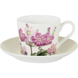 Чашка с блюдцем Anna Lafarg Stechcol Лаура кремовая (AL-17821D-CRE-TCS-ST) чашка с блюдцем anna lafarg stechcol лаура сиреневые цветы al 17821 f bcs st