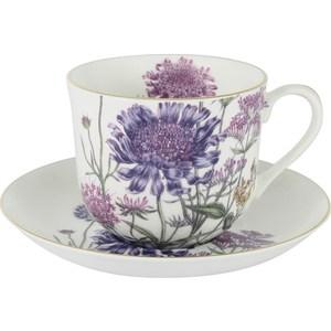 Чашка с блюдцем Anna Lafarg Stechcol Лаура сиреневые цветы (AL-17821-F-BCS-ST) все цены