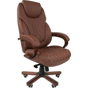 Офисное кресло Chairman СН 406 PU экопремиум коричневое