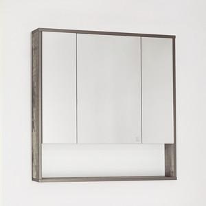 купить Зеркальный шкаф Style line Экзотик 80 бетон (2000949084534) по цене 5614 рублей