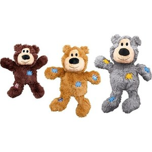 Игрушка KONG WildKnots Bears Small/Medium Dog ''Мишка'' 18см с канатом внутри плюш для собак мелких и средних пород WildKnots Bears Small/Medium Dog