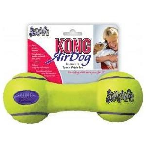 Игрушка KONG Air Squeaker Dumbbe Large Гантель большая 23см для собак