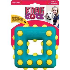 Игрушка KONG Dotz Square Large Квадрат большой 13см для собак
