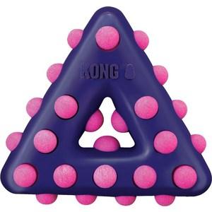 Игрушка KONG Dotz Triangle Small Треугольник малый 11см для собак