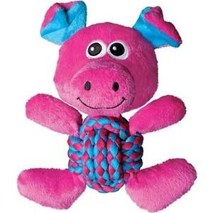 Игрушка KONG Weave Knots Pig Medium Свинка средняя 22х20см для собак