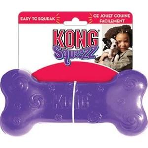 Игрушка KONG Squeezz Bone Medium Косточка средняя 15см резиновая с пищалкой для собак игрушка для собак kong косточка средняя с пищалкой цвет фиолетовый 15 5 х 6 5 х 3 5 см