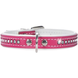 Ошейник Hunter Smart Dog Collar Modern Art Luxus 32/11 nickel (24-28,5 см) кожзам 1 ряд страз ярко-розовый для собак