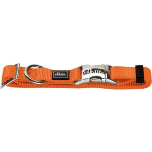 Ошейник Hunter Collar Vario Basic ALU-Strong M/20 (40-55см) нейлон с металлической застежкой оранжевый для собак цена 2017