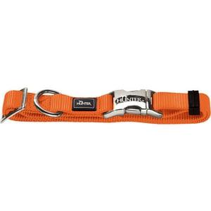 Ошейник Hunter Collar Vario-Basic ALU-Strong S/15 (30-45см) нейлон с металлической застежкой оранжевый для собак ошейник для собак hunter alu strong l нейлон оранжевый 45 65см