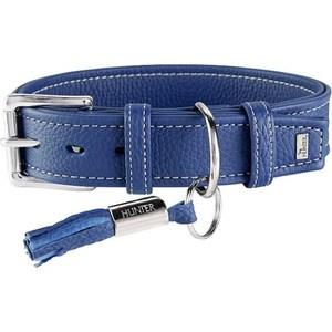 Ошейник Hunter Collar Cannes 50 (34-42см)/2,8см натуральная кожа синий для собак macklemore cannes
