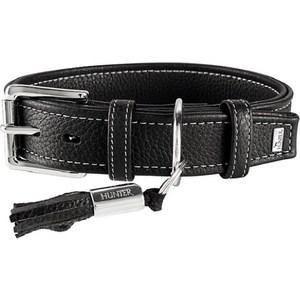 цена на Ошейник Hunter Collar Cannes 50 (34-42см)/2,8см натуральная кожа черный для собак