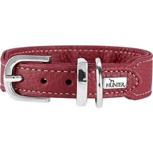 Ошейник Hunter Collar Cannes Mini 32 (23-28см) натуральная кожа бордовый для собак