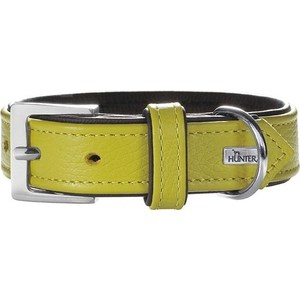 Фото - Ошейник Hunter Collar Capri 45 nickel (33-39см) натуральная кожа лайм/черный для собак ошейник hunter collar capri 55 nickel 42 48см натуральная кожа красный черный для собак