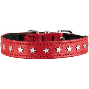 Ошейник Hunter Collar Capri Mini Stars 30 (23-27см) натуральная кожа красный для собак