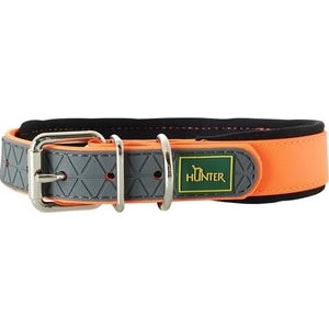 Ошейник Hunter Convenience Comfort 55 neonorange (42-50см) биотановый с мягкой горловиной оранжевый неон для собак