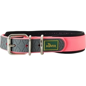 Ошейник Hunter Convenience Comfort 55 neonpink (42-50см) биотановый с мягкой горловиной розовый неон для собак