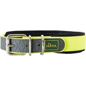 Ошейник Hunter Convenience Comfort 60 neongelb (47-55см) биотановый мягкая горловина желтый неон для собак