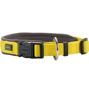 Ошейник Hunter Collar Neopren Vario Plus (40-45см) нейлон/неопрен желтый/бежевый для собак