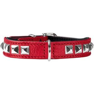 Ошейник Hunter Collar Rocky petit 30 nickel (23-27см) кожа красный для собак ошейник hunter collar tiny petit 24 nickel plated 16 5 20 5см кожа красный для собак