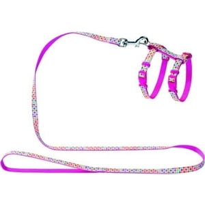 Шлейка Hunter Smart Harness with Leash Set Seventies нейлон розовая для кошек и собак