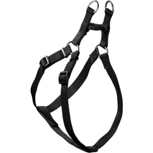 Шлейка Hunter Smart Harness Ecco Sport Quick L/25 (52-74/55-79 см) нейлон черная для собак