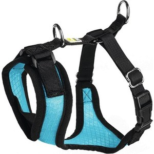 Шлейка Hunter Harness Manoa XS (35-41см) нейлон/сетчатый текстиль голубая для собак