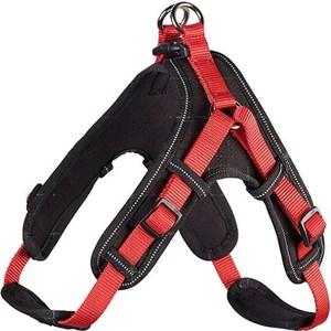 Шлейка Hunter Harness Neopren Vario Quick L (67-80см) нейлон/неопрен красная/черная для собак