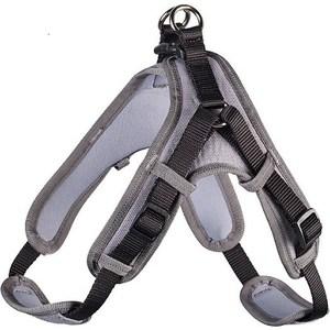 Шлейка Hunter Harness Neopren Vario Quick XL (79-100см) нейлон/неопрен черная/серая для собак