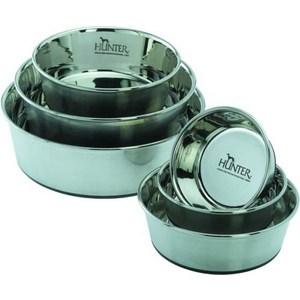 Миска Hunter Feeding Bowl из нержавеющей стали для собак 1,1л диаметр 17см