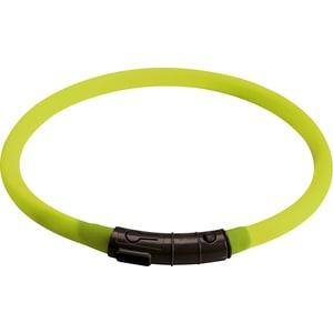 Шнурок Hunter LED Silicon Dog Tube Yukon 20-70см лайм светящийся на шею для собак